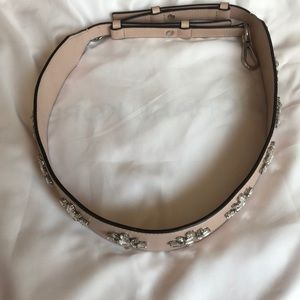 Pink Michael kors purse strap with rhinestones